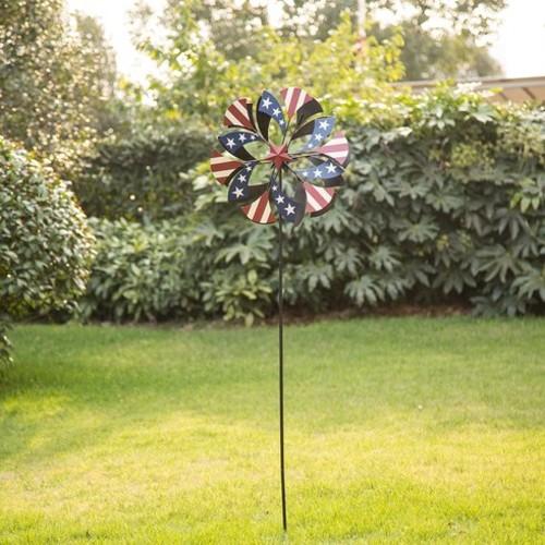 Patriotic Windmill Garden Stake