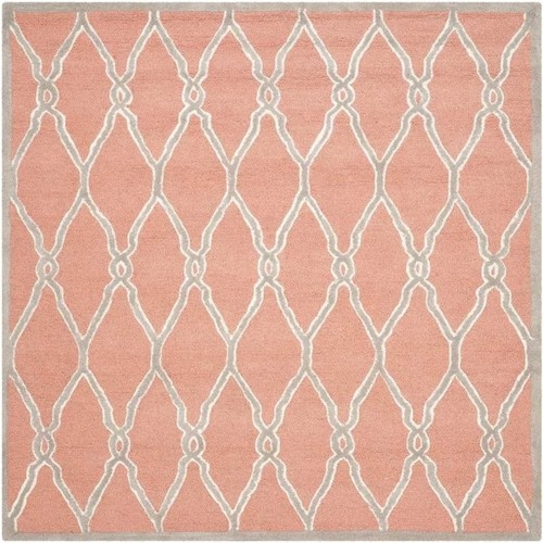 Safavieh Cambridge Coral/Ivory 6 ft. x 6 ft. Square Area Rug