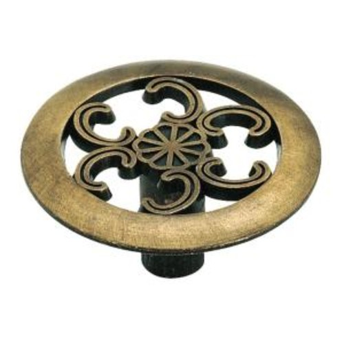 Amerock 1-1-/2 in. Antique Brass Cabinet Knob