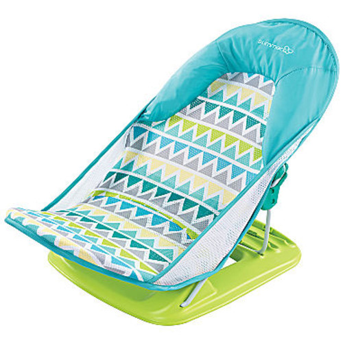 Summer Infant Duluxe Baby Bather Triangles Stripes Baby Bath Tub