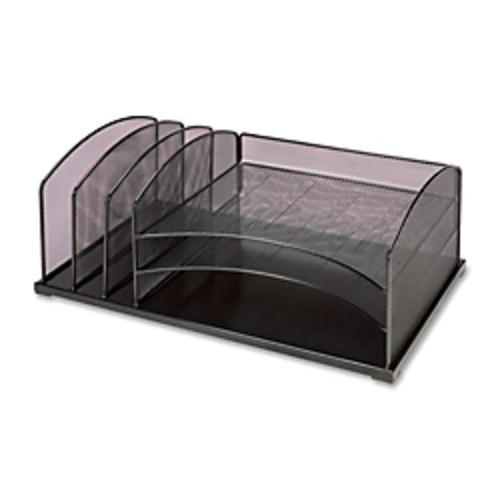 Lorell Vertical/Horizontal Desktop Organizer, Black