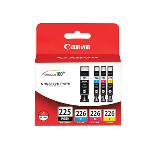 Canon PGI-225 and CLI-226 Combo Ink Cartridges, 4 Pack