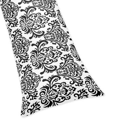 Sweet Jojo Designs Isabella Black and White Collection Body Pillow Case