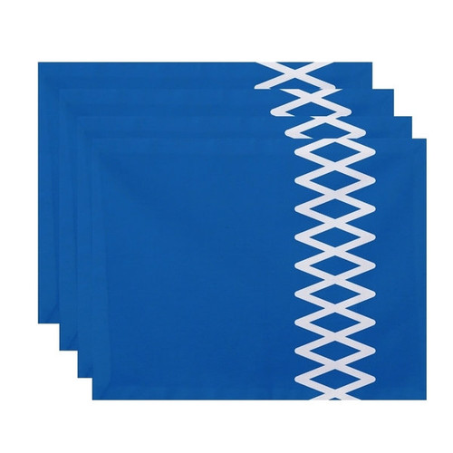 Geometric Side Diamond Stripe Print Table Top Placemat (Set of 4)