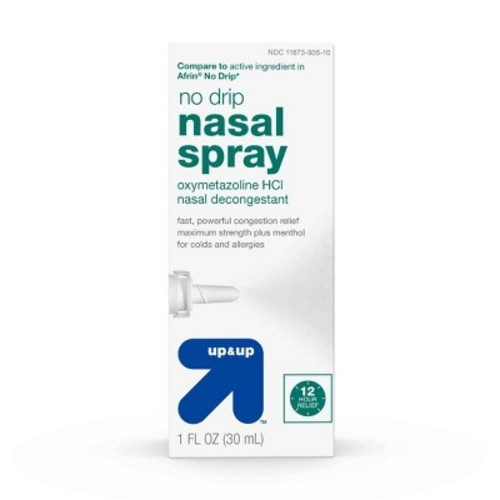 No Drip Nasal Decongestant Spray - (Compare to Afrin No Drip) - 1 fl oz - up & up
