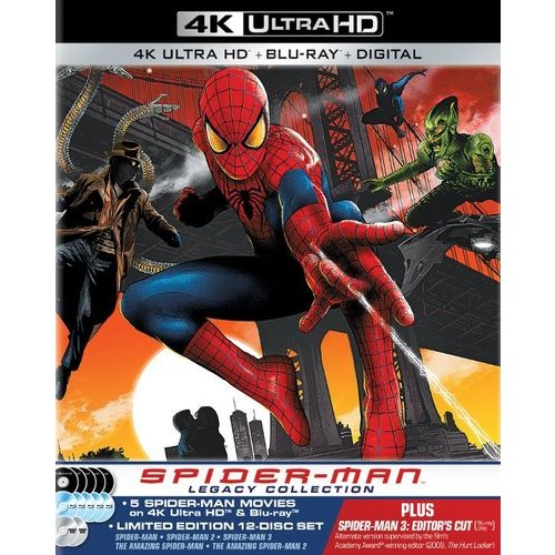 Spider-Man Legacy Collection [4K Ultra HD Blu-ray/Blu-ray] [SteelBook] [Only @ Best Buy]