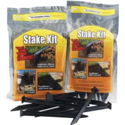 Master Mark 10 in. A.B.S. Plastic Anchor Stake Kit for Landscape Edging (20-Pack)