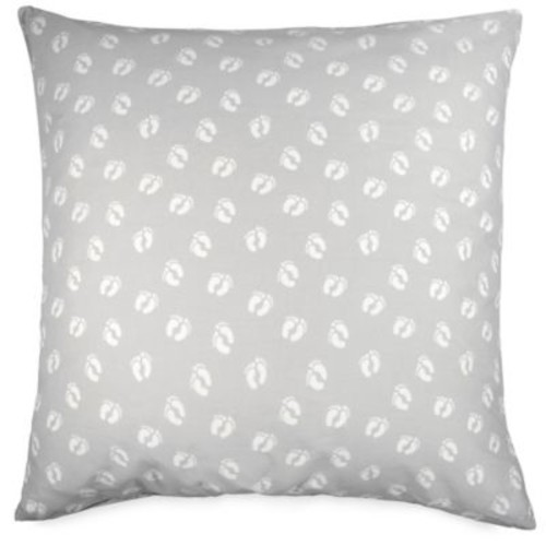 Hang Ten Ombre Hibiscus Feet Square Throw Pillow in Grey