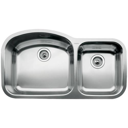 Blanco Wave Undermount Stainless Steel 37 in. 1-3/4 Bowl Kitchen Sink