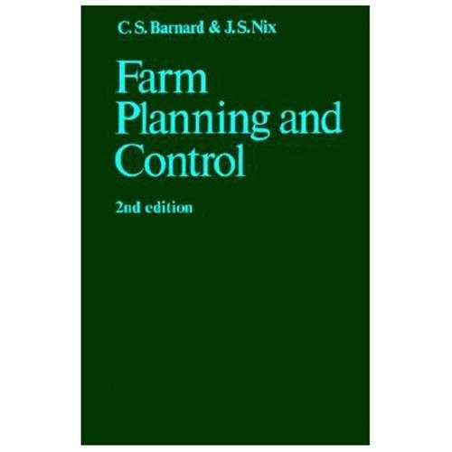 Farm Planning and Control (Paperback)