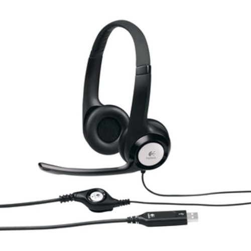 Logitech USB Headset for Internet Calls and Music - Black