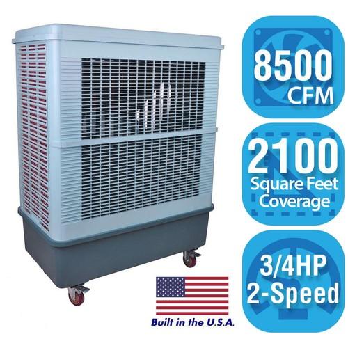 Hessaire 8,500 CFM 2-Speed Portable Evaporative Cooler for 2,100 sq. ft.