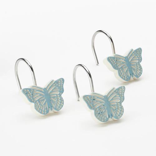 Fluttering 12-pk. Shower Curtain Hooks
