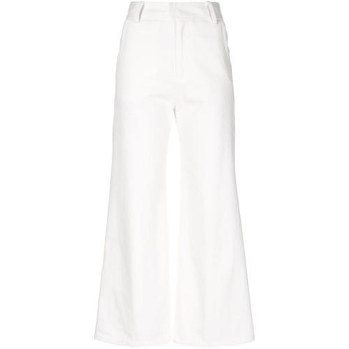 DEREK LAM Cropped Wide Leg Trousers