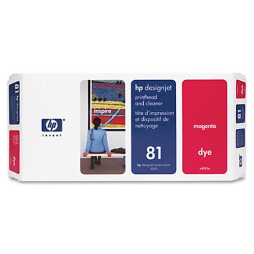 HP 81 (C4952A) Magenta Dye Printhead & Printhead Cleaner