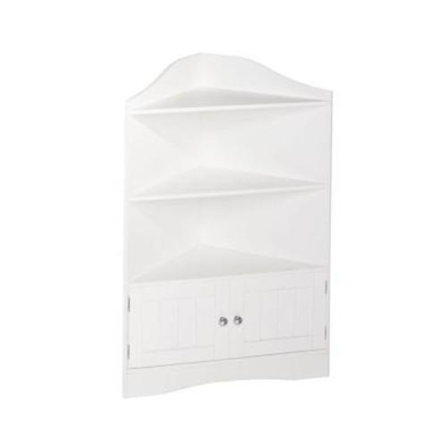 RiverRidge Home Ashland 24-4/5 in. W x 36 in. H Corner Bathroom Linen Storage Cabinet in White