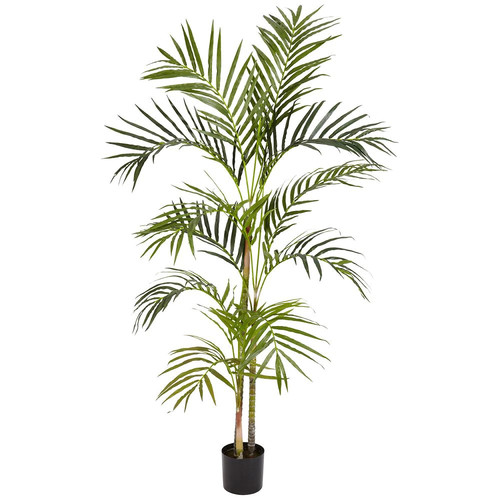 Nearly Natural 4 ft. Green Areca Palm Silk Tree