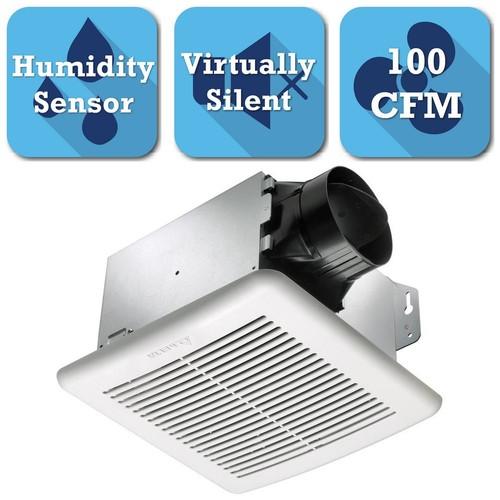 Delta Breez GreenBuilder Series 100 CFM Ceiling Bathroom Exhaust Bath Fan with Adjustable Humidity Sensor