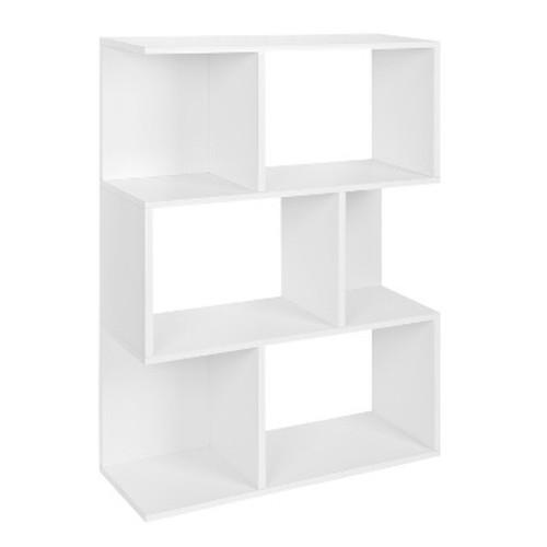 Way Basics Madison Bookcase, Room Divider Shelf, Natural White - Formaldehyde Free - Lifetime Guarantee