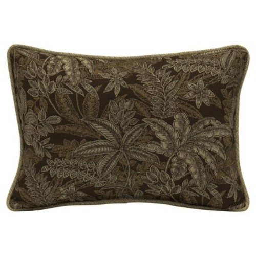 Palmetto Espresso 2pc Outdoor Oversize Lumbar Pillow Set w/ Welt - Brown - Bombay Outdoors