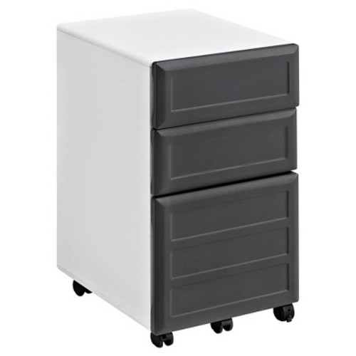 Pursuit Mobile File Cabinet - White/Gray - Ameriwood Home