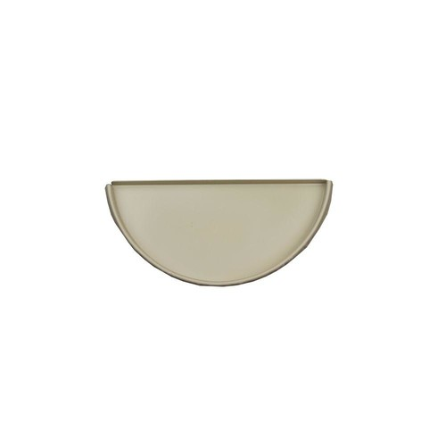 Spectra Metals 6 in. Half Round Wicker White Aluminum Gutter End Cap