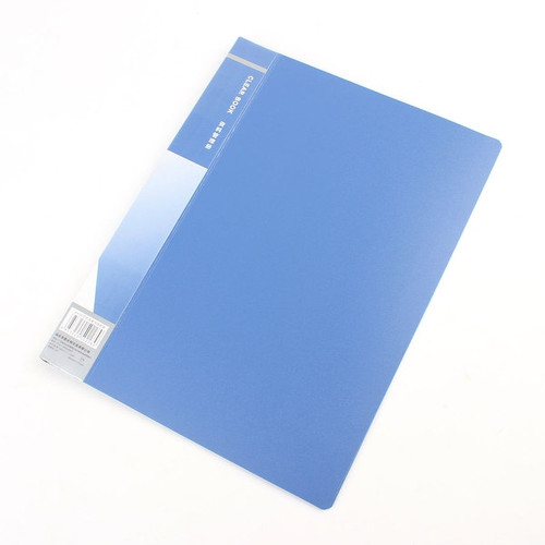 Office School 20 Clear Sheet A4 Paper Documents File Folder Blue