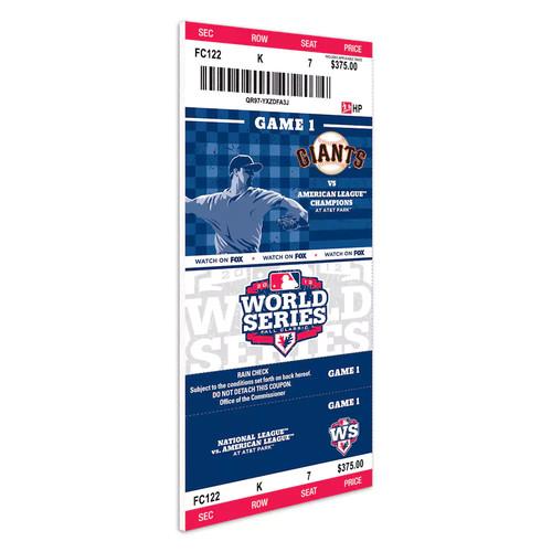 2012 World Series Mini-Mega Ticket - San Francisco Giants