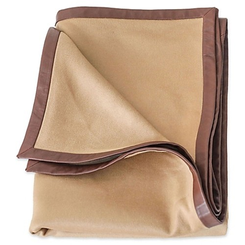 Bespoke Cashmere Throw Blanket in Camel