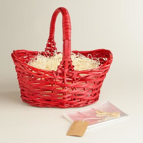 Red Basket with Handle Kit