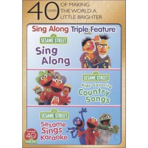 Sesame Street: Sing Along/Kids' Favorite Country Songs/Sesame Sings Karaoke (3 Discs) (dvd_video)