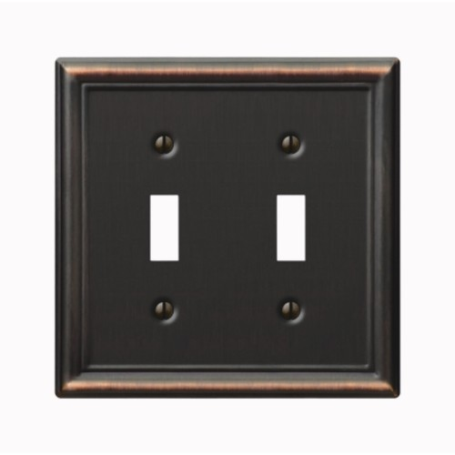 Amerelle 2 Toggle Aged Bronze Chelsea Wall Plate (149TTDB)