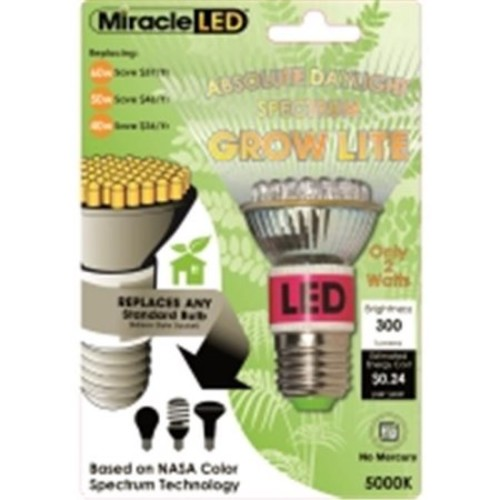 MiracleLED 2w PAR16 5000k Absolute Daylight Spectrum Grow Light Bulb