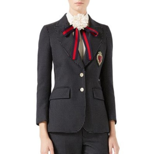 GUCCI Embroidered Single-Breasted Jacket