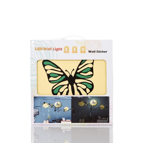 Wireless Butterfly Wall Sticker Lamp