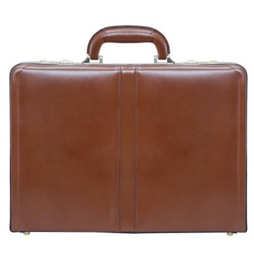 McKlein Leather Attache Case - Brown