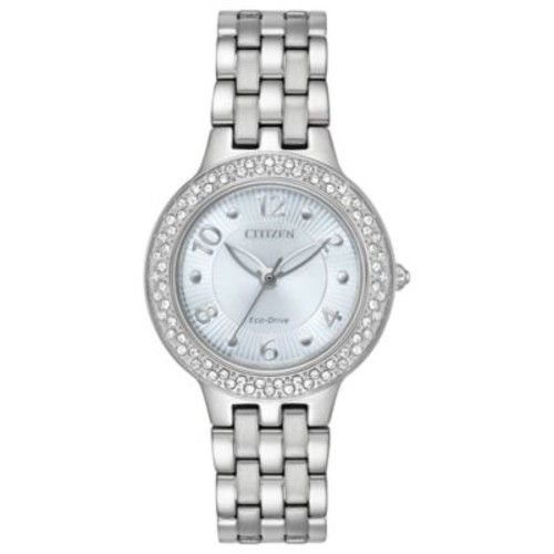 Citizen Silhouette Ladies' 31mm Swarovski Crystal Watch in Stainless Steel with Blue Dial