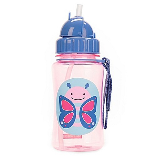SKIP*HOP Zoo 12 oz. Butterfly Straw Bottle