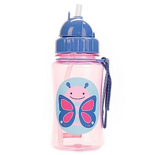 SKIP*HOP Zoo 12 oz. Butterfly Straw Bottle