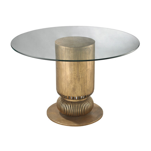 Dimond Home Coffee, Console, Sofa & End Tables LS Dimond Home Gold Leaf Sock Bun Entry Table