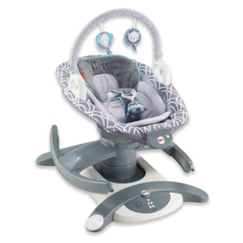 Fisher-Price 4-in-1 Rock n' Glide Soother in Grey