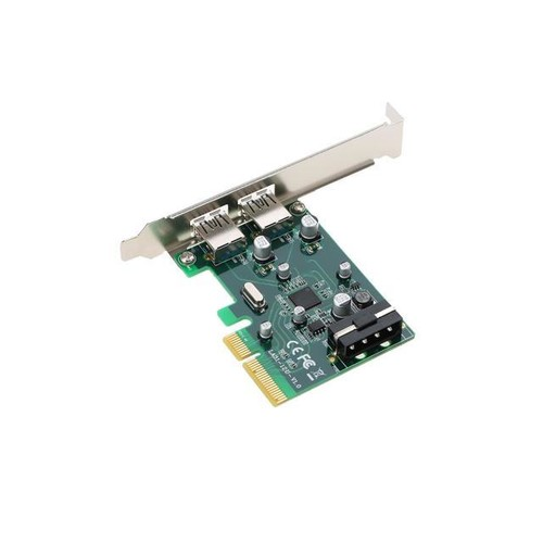 PCI-E to 2-Port USB3.1 Type A PCI Express Expansion Card USB 3.1 Hub Controller Adapter Superspeed 10 Gbps Big 4Pin Power
