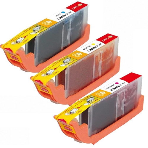 Compatible Canon CLI-251XL Cyan, Yellow, Magenta High Yield Ink Cartridges (Pack of 3)
