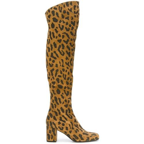 SAINT LAURENT 'Bb 70' Over-The-Knee Boots