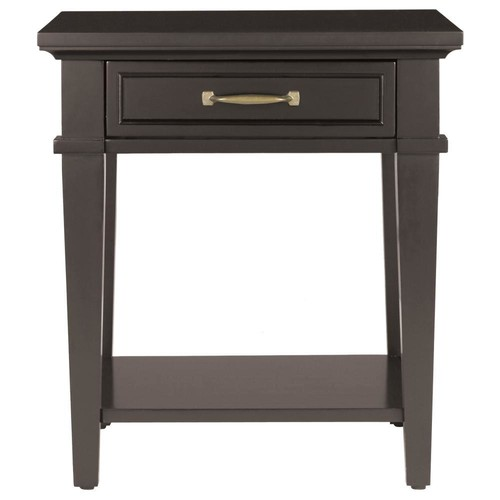 Home Decorators Collection Martin Black Storage End Table