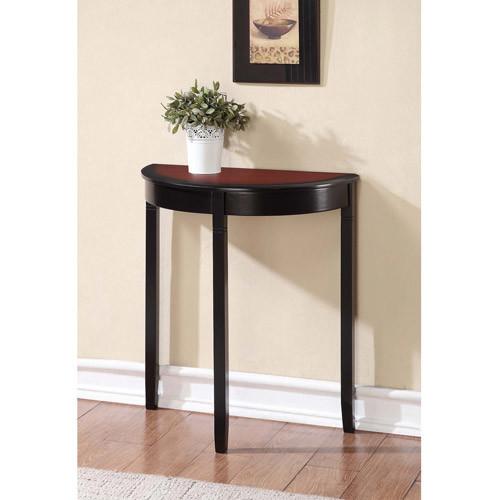 Linon Camden Demi Lune Console Table, Black Cherry, 28 inches Tall