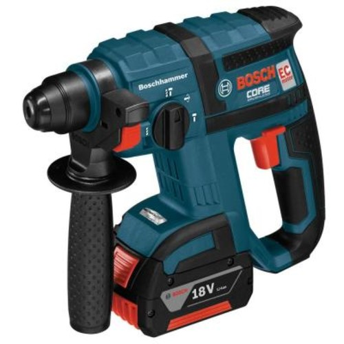 Bosch Bulldog 18 Volt Lithium-Ion Cordless 3/4 in. SDS-plus Variable Speed Brushless Rotary Hammer Kit with Chisel Function