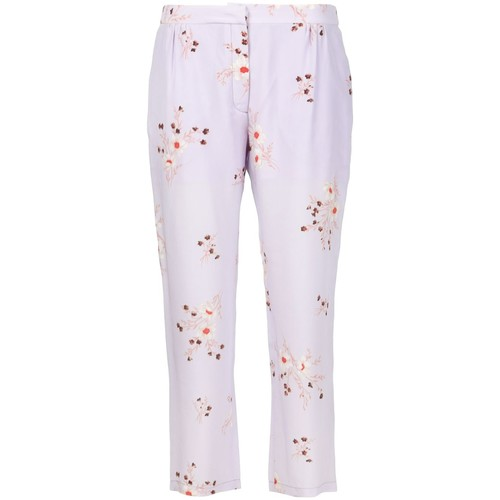 NINA RICCI Floral Print Cropped Trousers