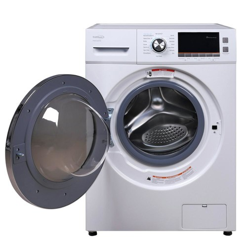 PREMIUM 2.0 cu. ft. All-in-One Front Load Washer and Electric Dryer in White