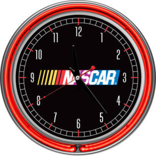 NASCAR Chrome Double Ring Neon Clock NASCAR1400